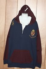 BOY'S POLO RALPH LAUREN HOODED COTTON RUGBY-SIZE: LARGE (16/18)*
