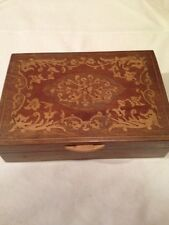 ANTIQUE FRENCH WOOD BOX INLAY MARQUETRY