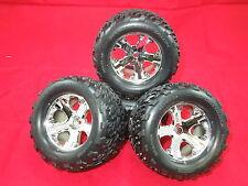 4 Traxxas XL-5 Stampede wheels Talon tires vxl Rustler xl5 monster jam 2wd new