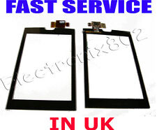 HUAWEI U8500 LCD TOP Touch Screen Digitizer Frontale Vetro Pannello PAD LENS BLACK UK