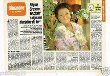 Coupure de presse Clipping 1985 (2 pages) Régine Crespin