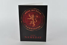Happy Nameday Card! House Lannister,Game of Thrones, George R. R. Martin, Tyrion