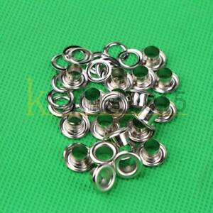 New 10pcs Silver Hole Metal Eyelets With Grommet Card Decoration 5mm