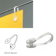 100 x Plastic Snap Clips Shop Display Label / Open: 50mm long & Closed: 37mm