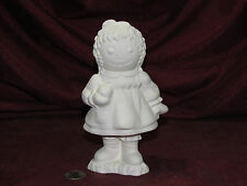 Ceramic Bisque Vintage Raggedy Ann Holding a Apple U Paint Ready to Paint