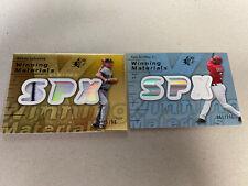 (2) 2007 SPX Relics, Ken Griffey Jr. 061/175 & Randy Johnson 25/99
