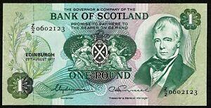 Bank of Scotland * £1 * Clydesmuir & Russell * Pfx Z/2 * p111c / SC109c * UNC