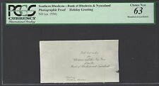 Rhodesia - Bank  Rhodesia & Nyasaland Holiday Greeting ND(1956) Photograph Proof