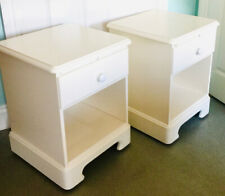 DUCALL RIVERDALE BEDSIDE / SIDE CABINETS WITH SLIDE  PULL OUT TRAYS