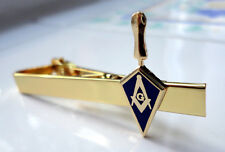 ZP20 Masonic Masons Tie Pin Bar  Square Compass Trowel Freemason