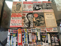 1944-1990 Baseball Digest Lot of 86 Magazines Joe DiMaggio +++