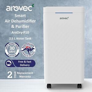 AROVEC Smart Dehumidifier & Air Purifier True HEPA 2500ml Water Tank 10L/Day new