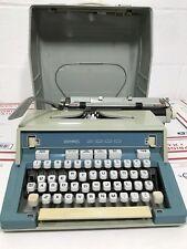 Hermes 3000 Vintage Blue Typewriter