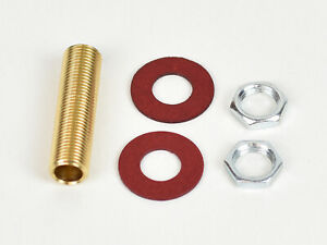 Brass lamp holder tube rod all thread 10mm with 2 locking nuts 2 fibre washers