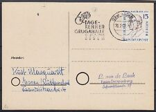 Berlin MI Nr. 166 EF auf Postkarte, gel. in Essen 1960 mit WS 6-Tage Rennen
