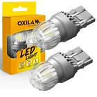Oxilam 7444 7443 Led Brake Stop Light Bulbs For Chevy Impala 14 2019 Clear White