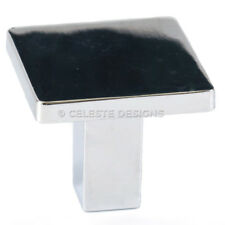 Celeste Square Knob Cabinet Knob Polished Chrome Solid Zinc