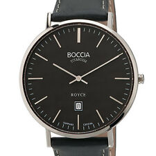 Boccia Thin Quartz Dress Watch, 42mm Titanium Case, Sapphire Crystal #3589-02