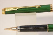 Vintage (c1979) Parker 180 Green Malachite Fine/Broad Fountain Pen