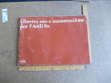 LIBRETTO USO E MANUTENZIONE PER L'AUDI 80