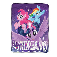 """New My Little Pony Chase your Dreams Super Plush Soft Throw Blanket 46""""x60''"""