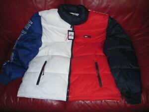NWT Tommy Hilfiger Puffer Jacket Red White Blue Sz XL   249.00