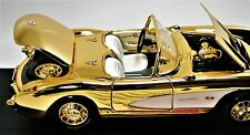 1 1957 Chevy 24k Corvette 24 Vette 64 Chevrolet 43 Car 18 Carousel Gold 12