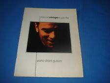 PARTITION PASCAL OBISPO SUPERFLU PIANO CHANT GUITARE MUSIQUE HIT DIFFUSION 1997