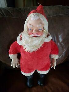 "Vintage Large 21"" Rushton Rubber Face Santa Claus Doll"