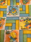Vintage 70's Fabric Holly Hobbie Style Fabric Gingham 45x26 Doll Clothing~Quilt