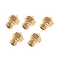 5PCS 3D Printer 0.4mm Extruder Brass Nozzle Print Head for MK8 1.75mm ABS P P3Z9