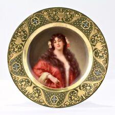 Signed Antique Royal Vienna Porcelain Cabinet Plate of a Beauty - Cornelia PC