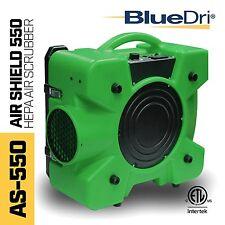 BlueDri™ Air Shield 550 AS-550 Hepa Negative Air Scrubber Purification Green