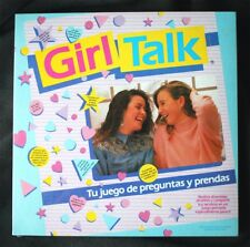 GIRL TALK BOARD GAME (WESTERN, DISET). VINTAGE, 1988! SPANISH, BRAND NEW, SEALED