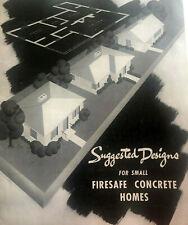 Portland Cement Concrete Home Catalog 1947 Ad Architecture Suburb Design Mcm