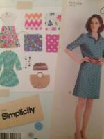 Simplicity Sewing Pattern 2246 Ladies Misses Dress Three Lengths Size 14-22 UC