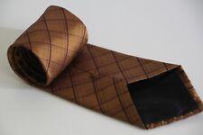 GANT Diamond Grid Print Sniny Shinny Gold Tie 100% Silk Seide Seta Made in Italy