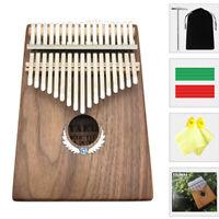 Mahogany Kalimba 17 Keys Thumb Piano Tuner Hammer Music Instruments Mbira Sanza