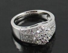 Joseph Esposito Diamonique Petite Sterling Silver Flower Ring - Size 7