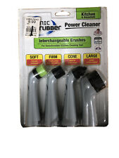 Sonic Scrubber Power Cleaner Kitchen & Household Interchangeable Brush Heads NEW