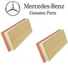 Genuine For Mercedes W212 W216 Pair Set of 2 Engine Air Filters Element