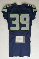 Seattle Seahawks Blank #39 Team Issued Home Jersey with COA - SA 09286