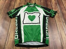 State of Oregon Men's Multicolor Full Zip Cycling Jersey - Small