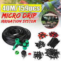 15-40m DIY Water Irrigation Kit Micro Drip Watering Plant System Garden Hose