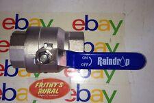 "BRASS BALL VALVE  50mm 2"" inch FI × FI FULL FLOW STAINLESS STEEL HANDLE BBV-50"