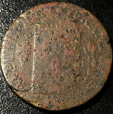 1793 France 1 Sol Declaration of Equality French Revolution Coin