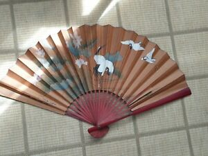 Large Oriental/Chinese Decorative Hanging Wall Fan  #1