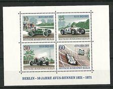Deutsche Bundespost Berlin 1971: Block: 50 Jahre AVUS-Rennen