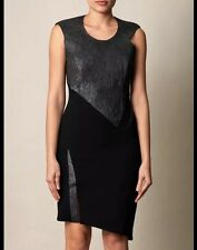 276a4df83755 100 Auth Helmut Lang Lamb Leather Black Dress. 8