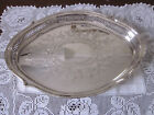 GORGEOUS VINTAGE RODD SILVERPLATE RETICULATED AND ETCHED OVAL TRAY